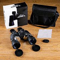 Бинокль 7х50, Мастер К. черный, серебристые вставки пластик