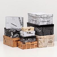 Набор коробок 10 в 1 'Ретро новости', 30,5 х 20 х 13 - 12 х 6,5 х 4 см