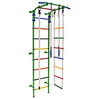Детский спортивный комплекс Start 3, 700 x 470 x 2050 мм, цвет салатовый/радуга