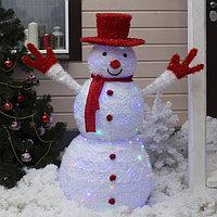 Фигура текстиль 'Снеговик' 125х60х125 см, 125 LED, 220V, МУЛЬТИ