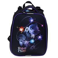 Рюкзак каркасный, Stavia, 38 х 30 х 16 см, для девочки, эргономичная спинка, 'Котик 3D'