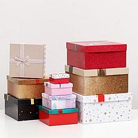 Набор коробок 10 в 1 'Банты', 25,5 х 25,5 х 13 - 7 х 7 х 4 см
