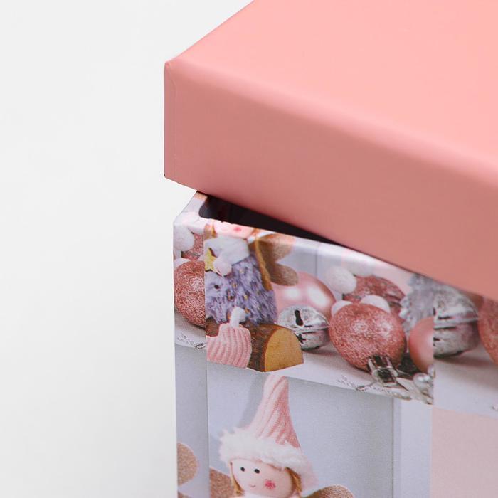 Набор коробок 10 в 1 квадратный, 26,5 х 26,5 - 8,5 х 8,5 см - фото 4