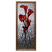 Гобеленовая картина 'Каллы красные' 35х85 см