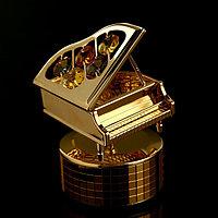 Музыкальный сувенир с кристаллами Swarovski 'Рояль' 10,1х7,1 см