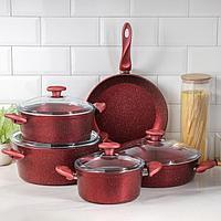 Набор посуды Papilla Wilma, 5 предметов кастрюля, d20/24/28 сотейник d28 см сковорода d28 см