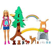 Кукла 'Барби Исследователь дикой природы', с животными и тематическими аксессуарами