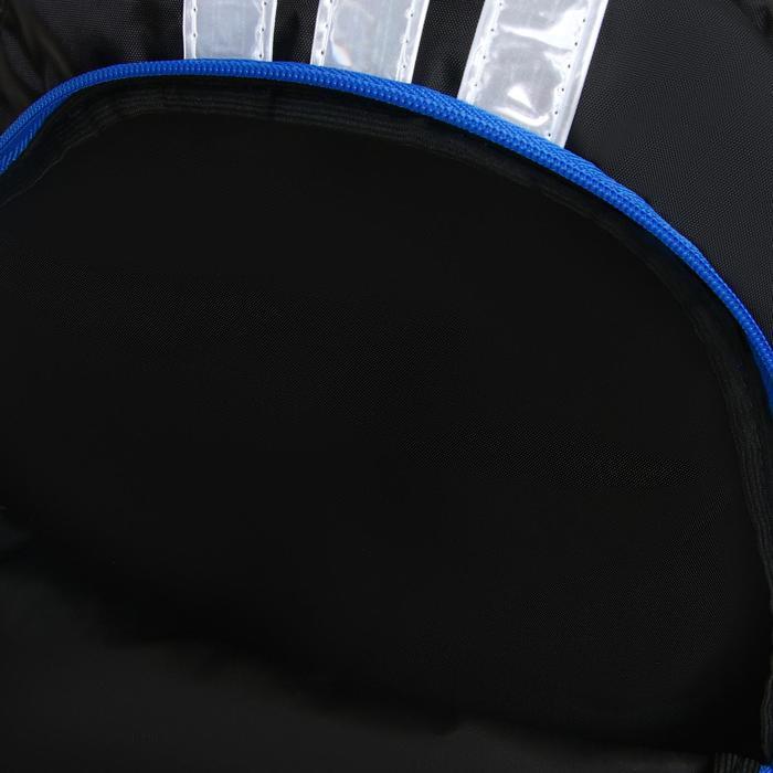 Рюкзак молодежный эргоном. мягкая спинка Calligrata 43х31х17 см 'Треш', бел/чёрн/коричн - фото 10