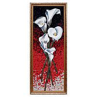 Гобеленовая картина 'Каллы белые' 35х85 см