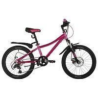 Велосипед 20' Novatrack Katrina, 2021, цвет розовый металик