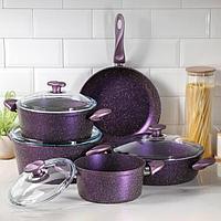 Набор посуды Papilla Wilma 5 предметов кастрюля, d20/24/28 сотейник d28 см, сковорода d28 см