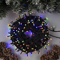 Гирлянда 'Клип-лайт' 100 м , IP44, УМС, тёмная нить, 1000 LED, свечение мульти, фиксинг, 24 В