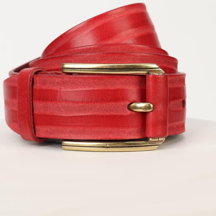 Ремень женский, ширина 3,5 см, пряжка металл, цвет красный - фото 2