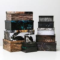 Набор коробок подарочных 12 в 1 'Gift box', 18 х 11 х 6.5 см - 46,6 х 35,2 х 17.5 см