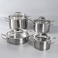 Набор посуды Korkmaz Pro line, 4 предмета кастрюля 2/4/6,3 л, жаровня 3,1 л