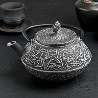 Чайник Доляна 'Хрома', с ситом, 800 мл, эмалированное покрытие внутри