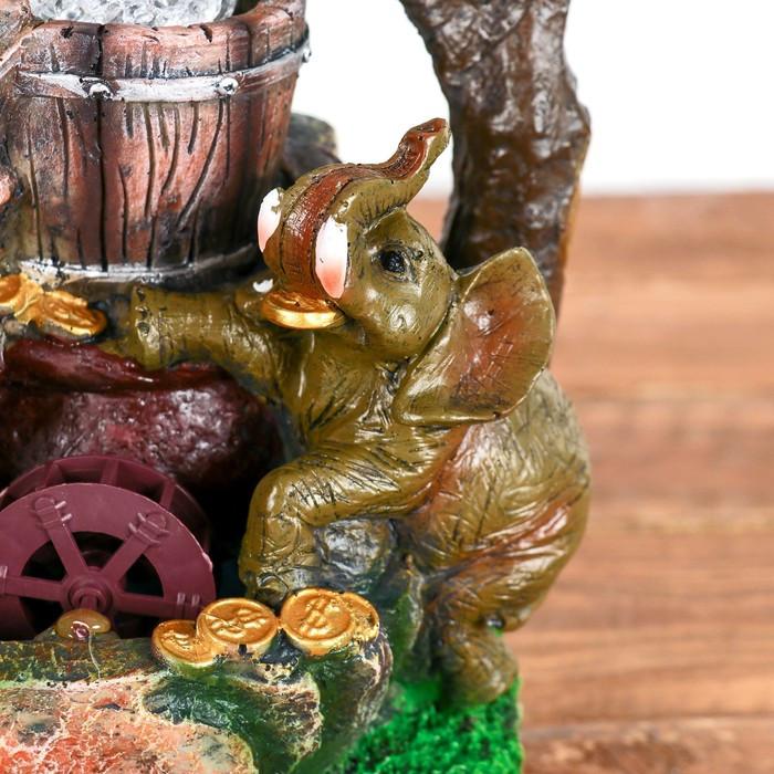Фонтан 'Слоны с монетами' 19х28 см (с подсветкой) - фото 2