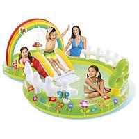 Игровой 'Мой сад' с разбрызгивателем, горкой и игрушками, 290 х 180 х 104 см, 57154NP INTEX