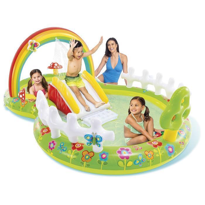 Игровой 'Мой сад' с разбрызгивателем, горкой и игрушками, 290 х 180 х 104 см, 57154NP INTEX - фото 1