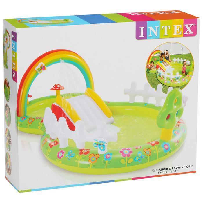 Игровой 'Мой сад' с разбрызгивателем, горкой и игрушками, 290 х 180 х 104 см, 57154NP INTEX - фото 2