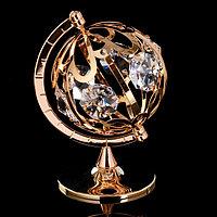 Сувенир с кристаллами Swarovski 'Глобус' 9,3х6,7 см
