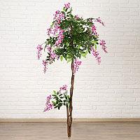 Дерево искусственное глициния витая 160 см d цветка3,5 см