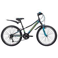 Велосипед 24' Novatrack Valiant, 2019, цвет черный, размер 10'