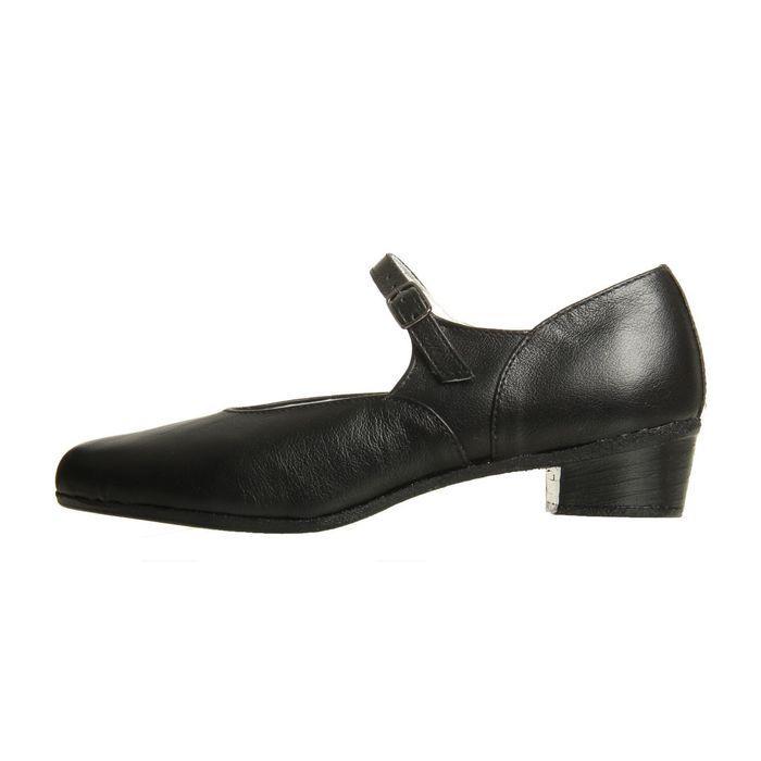 Туфли народные женские, длина по стельке 22 см, цвет чёрный - фото 2