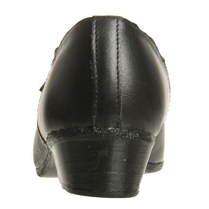 Туфли народные женские, длина по стельке 22 см, цвет чёрный - фото 3