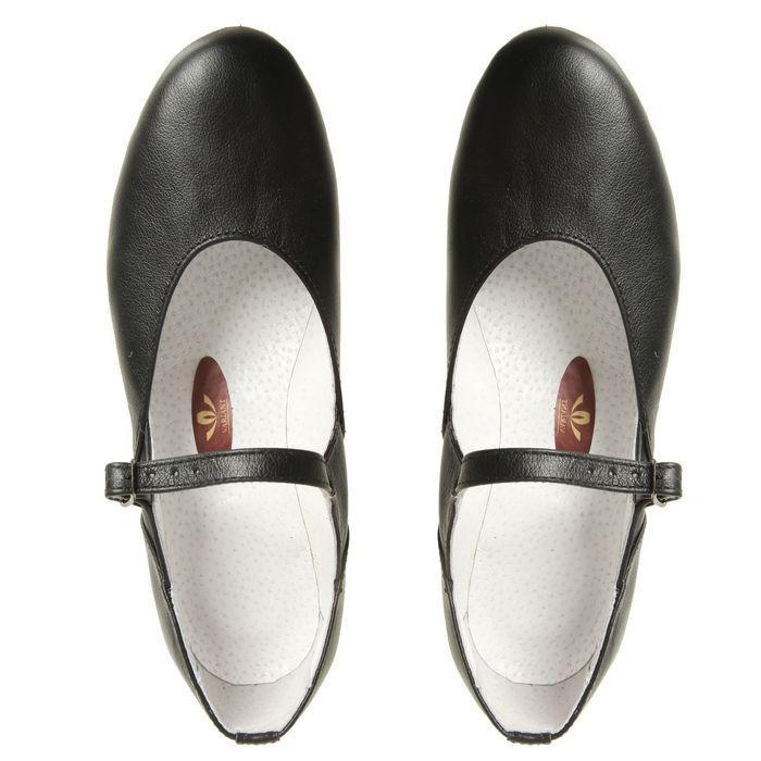 Туфли народные женские, длина по стельке 22 см, цвет чёрный - фото 5