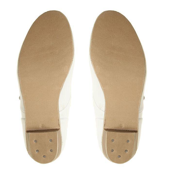 Туфли народные женские, длина по стельке 18,5 см, цвет белый - фото 4