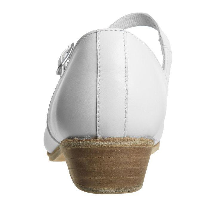 Туфли народные женские, длина по стельке 22 см, цвет белый - фото 3
