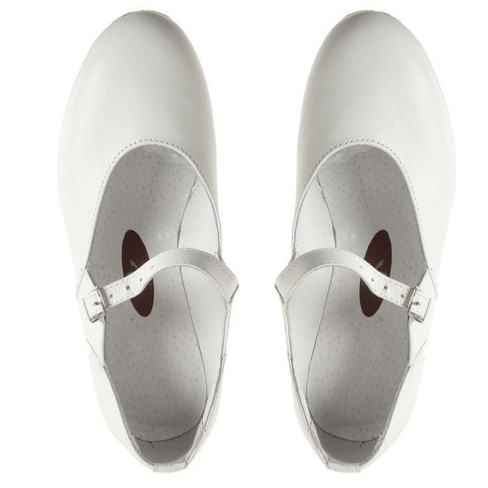 Туфли народные женские, длина по стельке 22 см, цвет белый - фото 5
