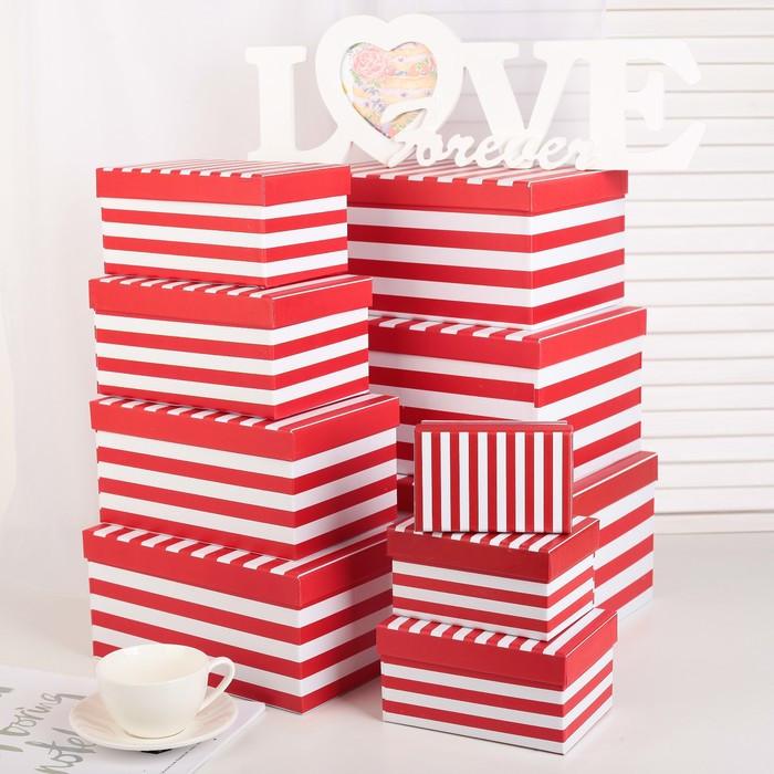 Набор коробок 10 в 1, 30 х 21 х 14,5 - 12 х 7,5 х 6,5 см - фото 3
