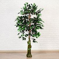 Дерево искусственное лист зеленый 145 см