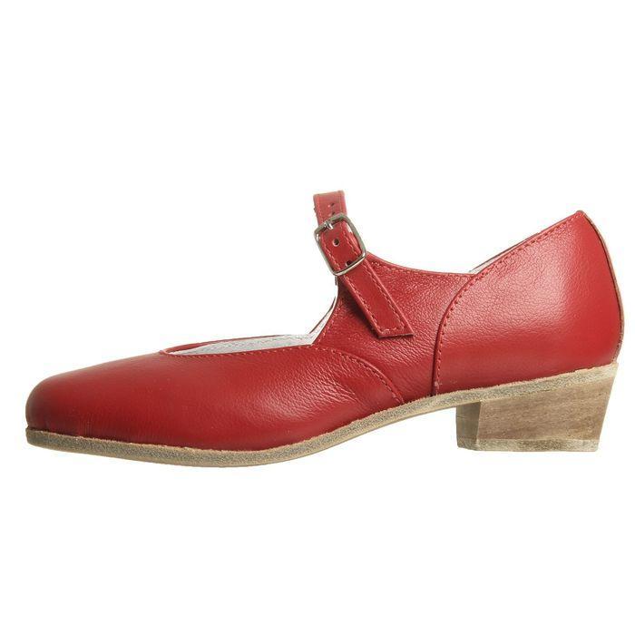 Туфли народные женские, длина по стельке 22 см, цвет красный - фото 2