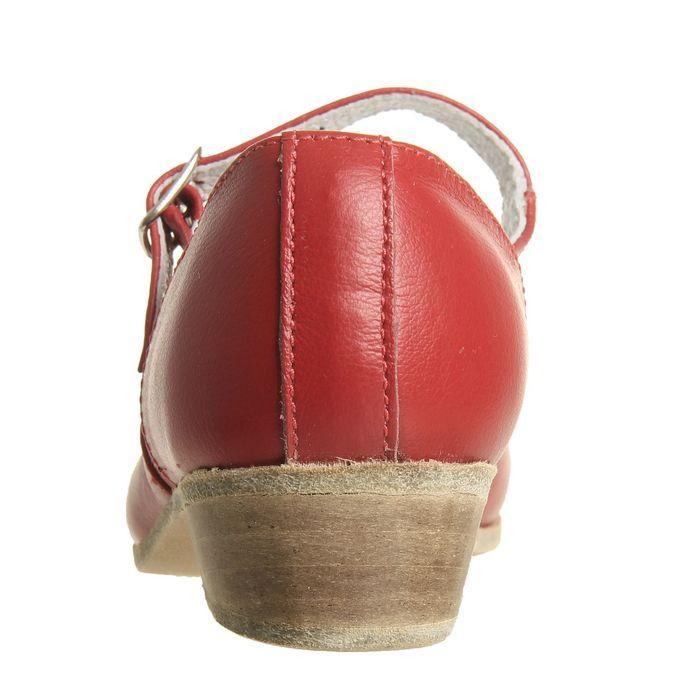 Туфли народные женские, длина по стельке 22 см, цвет красный - фото 3