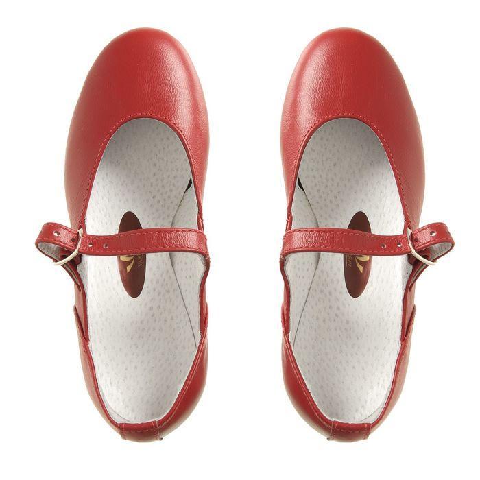 Туфли народные женские, длина по стельке 22 см, цвет красный - фото 5