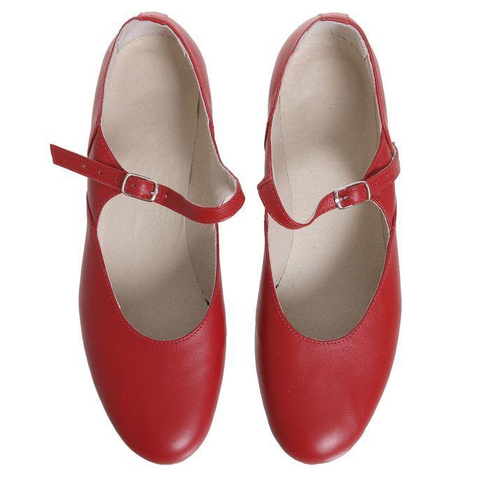 Туфли народные женские, длина по стельке 26 см, цвет красный - фото 3