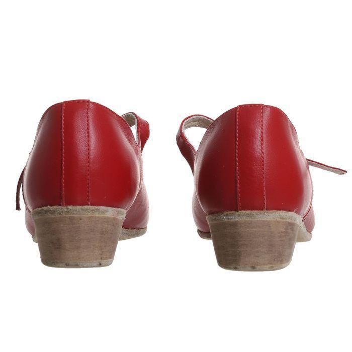 Туфли народные женские, длина по стельке 26 см, цвет красный - фото 4