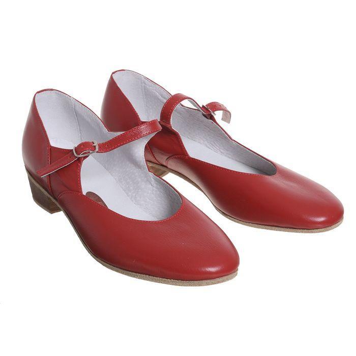Туфли народные женские, длина по стельке 26 см, цвет красный - фото 6