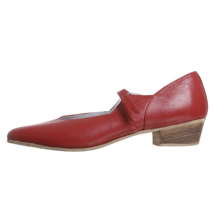 Туфли народные женские, длина по стельке 26 см, цвет красный - фото 7