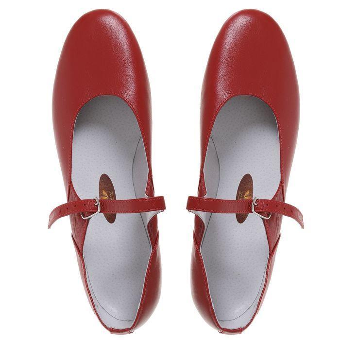 Туфли народные женские, длина по стельке 26 см, цвет красный - фото 8