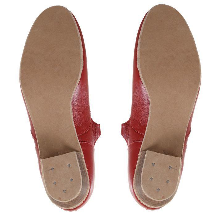 Туфли народные женские, длина по стельке 26 см, цвет красный - фото 9
