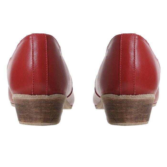 Туфли народные женские, длина по стельке 26 см, цвет красный - фото 10
