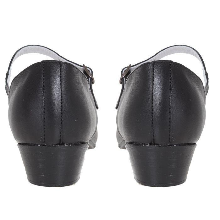 Туфли народные женские, длина по стельке 24 см, цвет чёрный - фото 4