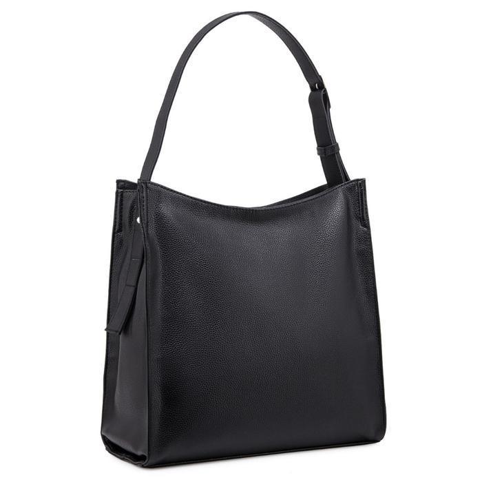 Сумка женская, отдел на молнии, наружный карман, цвет чёрный - фото 1
