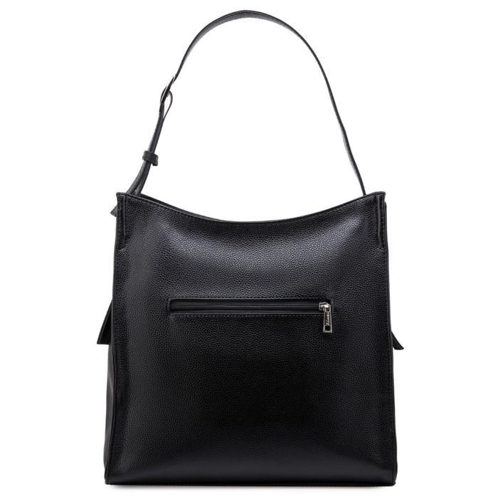 Сумка женская, отдел на молнии, наружный карман, цвет чёрный - фото 2