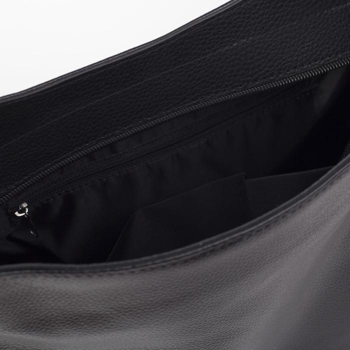 Сумка женская, отдел на молнии, наружный карман, цвет чёрный - фото 3