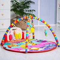 Развивающий коврик 'Давай играть', с пианино, круглый, розовый